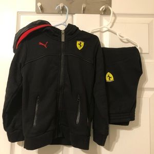 Puma/Ferrari 2 piece track suit w/hood
